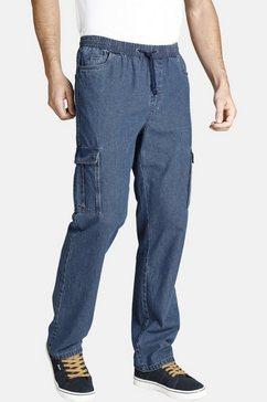 jan vanderstorm cargo jeans esko met rondom elastische band blauw