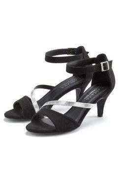 lascana sandaaltjes met aantrekkelijke riempjes en prettige hakhoogte zwart