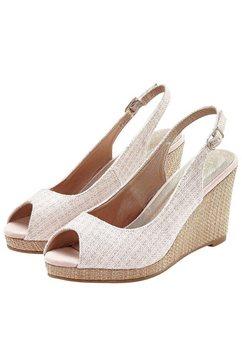 lascana highheel-sandaaltjes roze