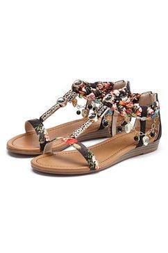 lascana sandalen in festival-look beige