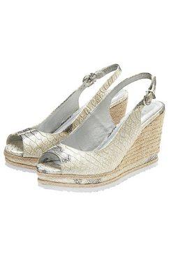 lascana highheel-sandaaltjes beige