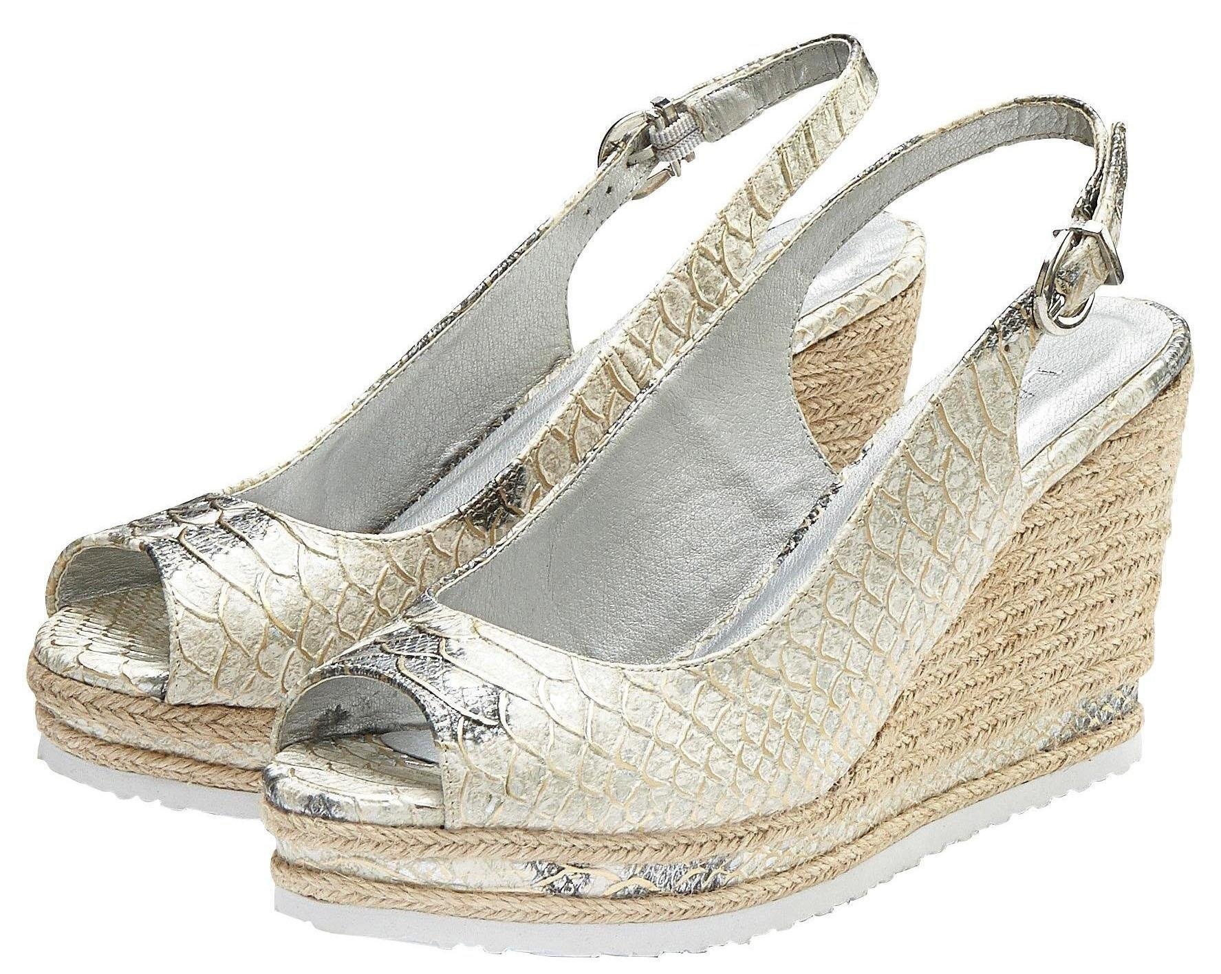 Lascana highheel sandaaltjes met sleehak en animal stempeldruk nu online kopen bij OTTO