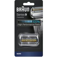 braun vervangende scheerkop braun 92m scheerkopcassette, compatibel met series 9-scheerapparaten zilver