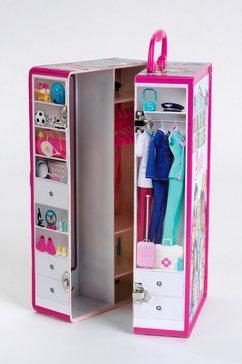klein poppenkledingkast barbie kastkoffer multicolor
