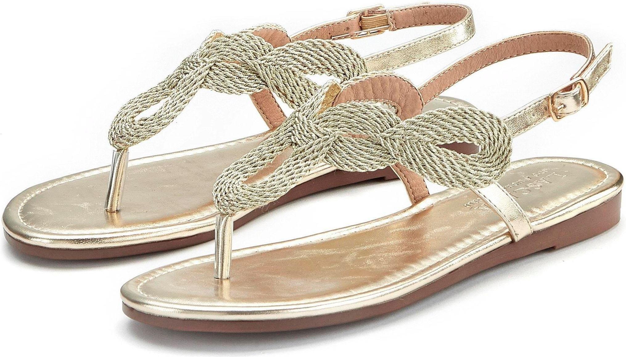 LASCANA teenslippertjes in metallic-look bij OTTO online kopen