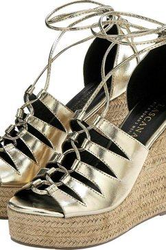 lascana sandaaltjes met sleehak goud