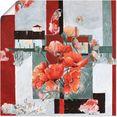 artland artprint stilleven met melkkannetje in vele afmetingen  productsoorten -artprint op linnen, poster, muursticker - wandfolie ook geschikt voor de badkamer (1 stuk) rood