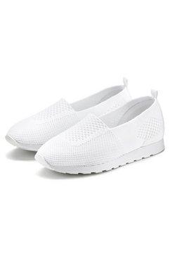 lascana slip-on sneakers wit