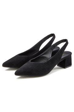 lascana slingpumps met blokhak zwart