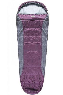 trespass »siesta 2-jahreszeiten-schlafsack, wasserabweisend« mummieslaapzak paars