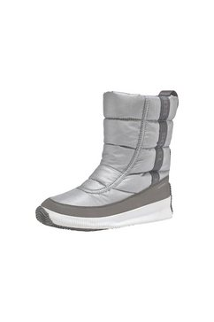 sorel laarzen zonder sluiting »out n about™ puffy mid« zilver