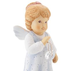 goebel engelfiguur jij bent prachtig net als jij bent met kristallen hart blauw