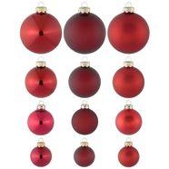 thueringer glasdesign kerstbal, made in germany (30-dlg. set), »advent« rood