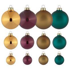 kerstballen 40-delig multicolor