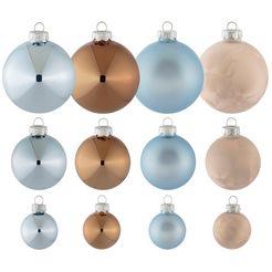thueringer glasdesign tgs-kerstbal, (40 stuks), »sky« beige