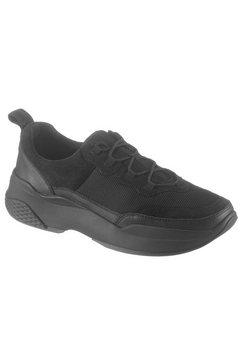 vagabond sneakers met sleehak zwart