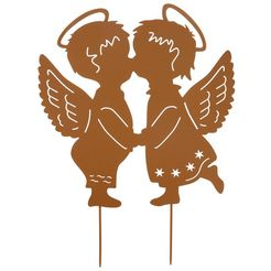 home affaire tuinsteker angel garden bruin