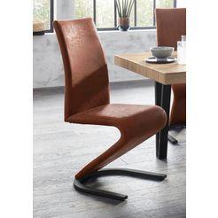vrijdragende stoel ziri (2 stuks) bruin