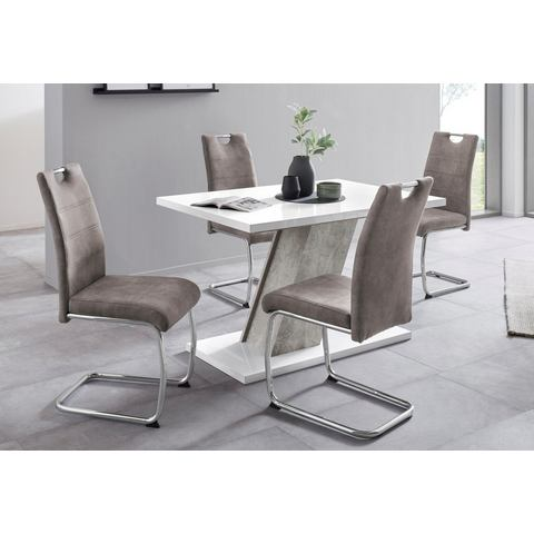 Eethoek FLORA G bestaand uit een tafel en 4 stoelen (5-delig)