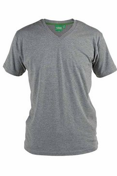 duke clothing t-shirt »herren d555 kingsize signature-1 baumwolle« grijs