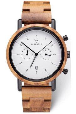 kerbholz chronograaf »johann olivewood« bruin