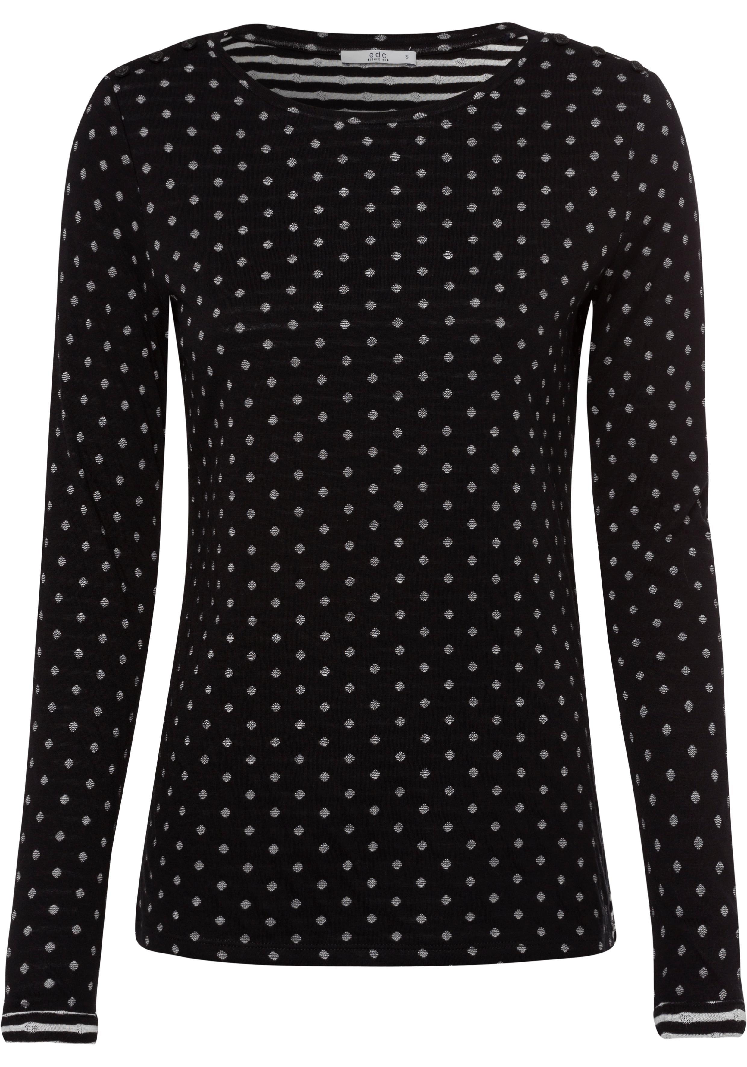 edc by esprit shirt met lange mouwen nu online kopen bij OTTO