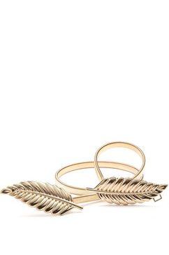 lascana tailleceintuur met moderne veergesp en elastische band goud