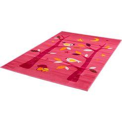 sanat hali vloerkleed voor de kinderkamer bambino 2110 laagpolig roze