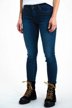 skinny jeans van garcia blauw