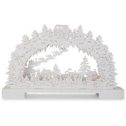 schwibboog »schneemaenner in verschneiter landschaft« wit