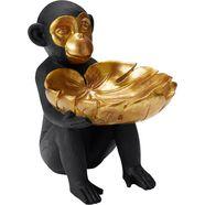 leonique decoratief figuur aap met schaal zwart