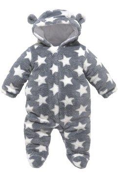 klitzeklein teddy-jumpsuit grijs