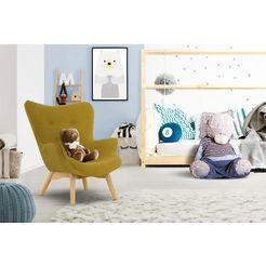 luettenhuett fauteuil duca mini in een kleine versie voor kinderen geel