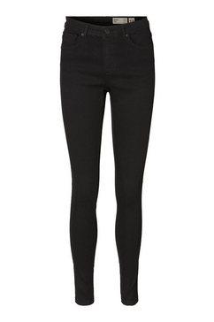 vero moda skinny fit jeans »tanya« zwart
