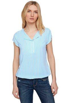 tom tailor blouse met korte mouwen blauw