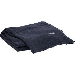 gant wollen deken »fishbone«, gant blauw