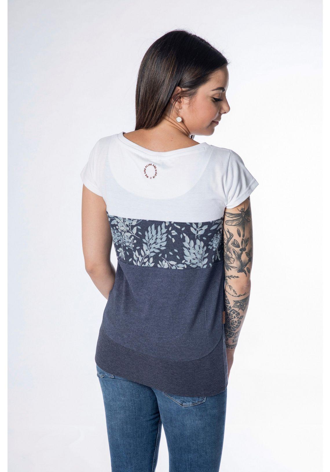 Alife And Kickin T-shirt Clea Online Bij Wit/marine Gedessineerd ACtoEAmz