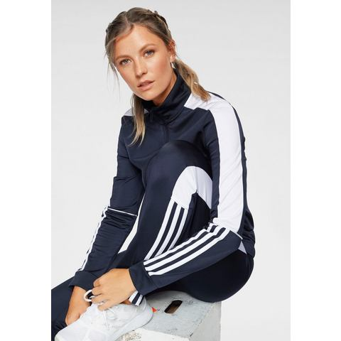 adidas performance trainingspak donkerblauw-wit
