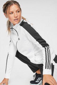 adidas performance trainingspak »osr w pes 3 stripes tracksuit« wit