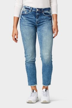 tom tailor slim fit jeans »kate slim jeans in enkellengte« blauw