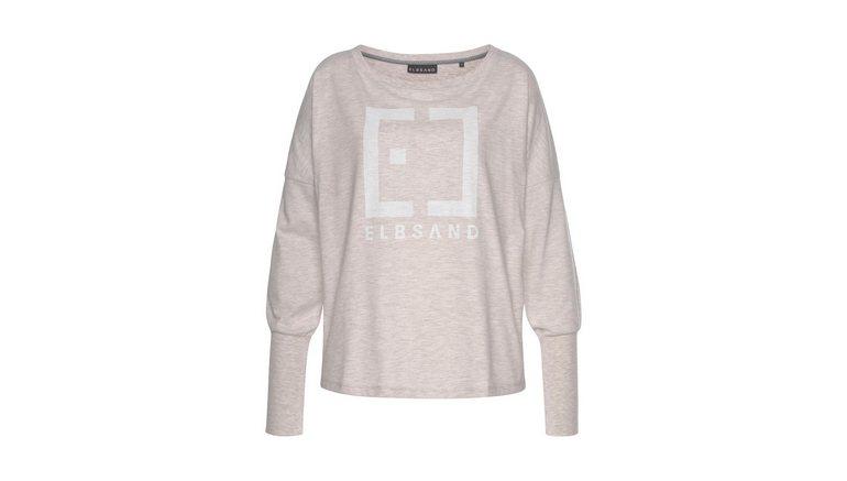 Elbsand shirt met lange mouwen Ingra met logoprint