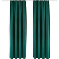 gordijn, »sola«, my home, rimpelband per stuk groen