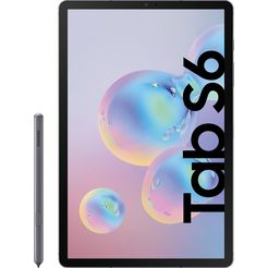 "samsung »galaxy tab s6 - lte« tablet (10,5"", 256 gb, android, 4g (lte)) grijs"