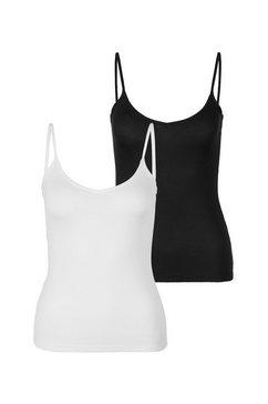 s.oliver bodywear top met spaghettibandjes wit