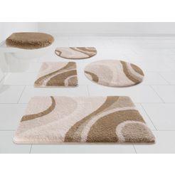 badmat »mae«, kleine wolke exklusiv, hoogte 25 mm, met antislip-coating, slijtvast bruin