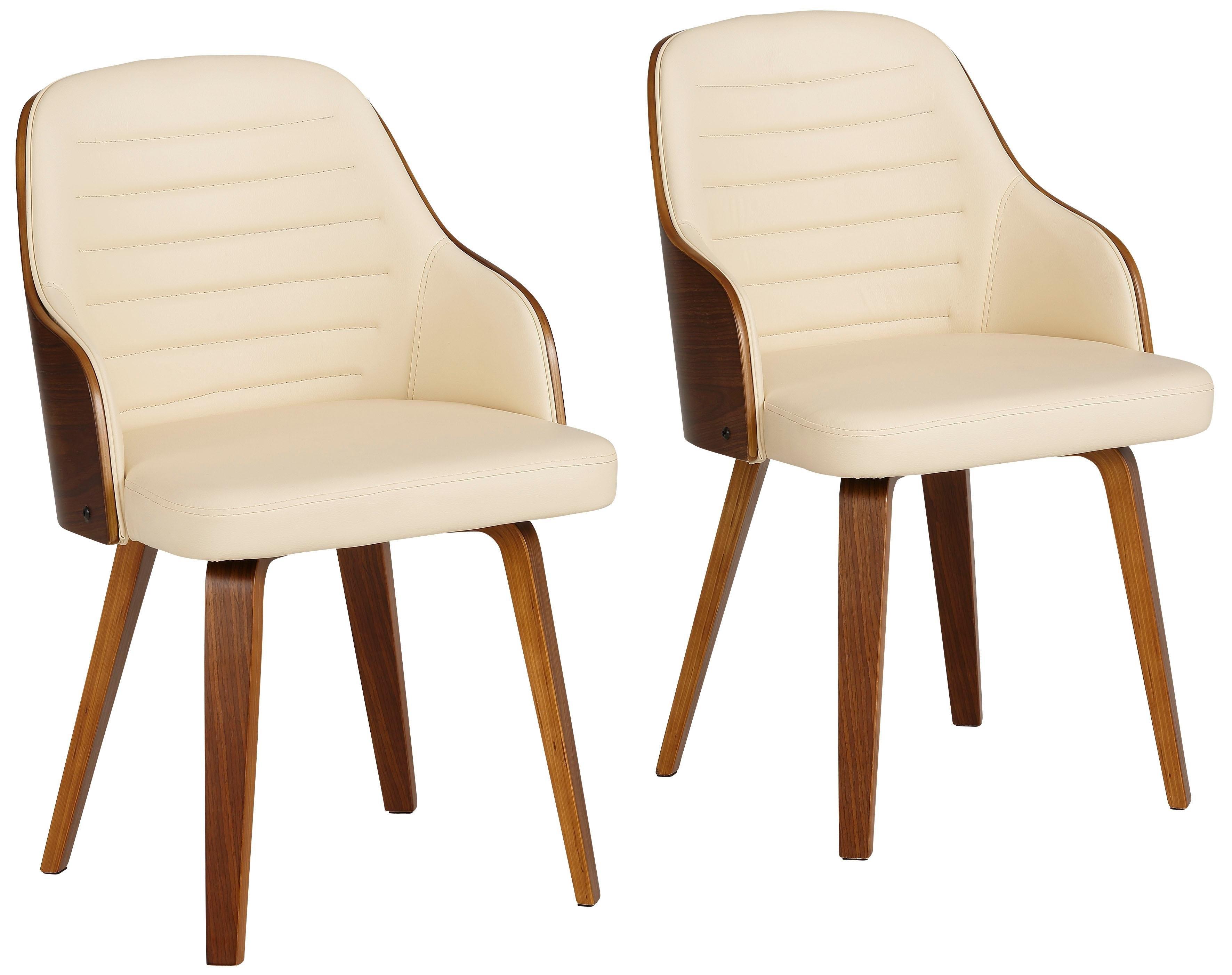 Home affaire stoel met armleuningen Duncan set van 2, van mooi imitatieleer, in verschillende kleurvarianten (set, 2 stuks) - gratis ruilen op otto.nl