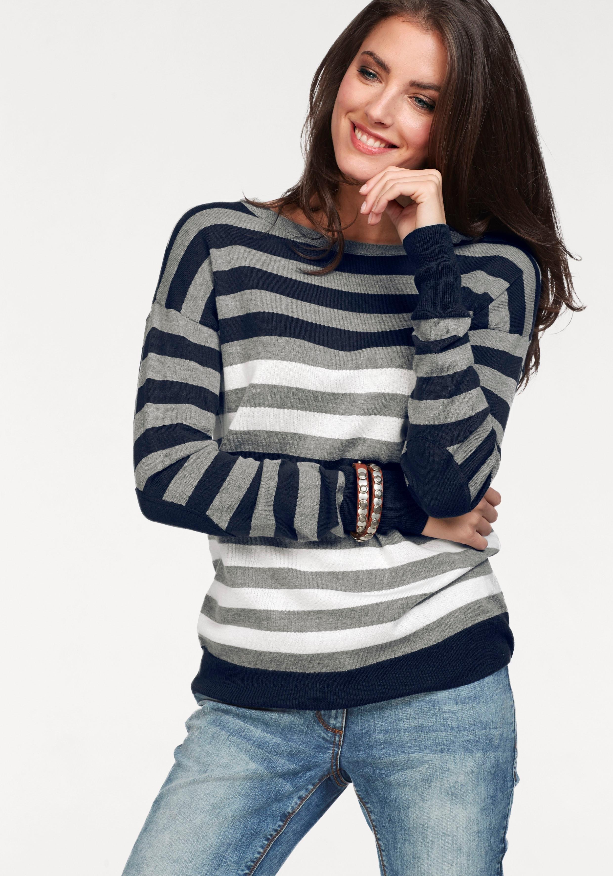Aniston CASUAL Tamaris trui met ronde hals - verschillende betaalmethodes