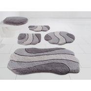 badmat »princess«, kleine wolke exklusiv, hoogte 30 mm, met antislip-coating, slijtvast grijs
