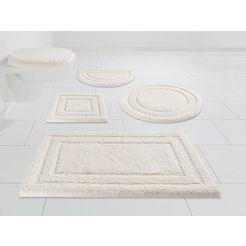badmat »soho«, kleine wolke exklusiv, hoogte 30 mm, met antislip-coating wit