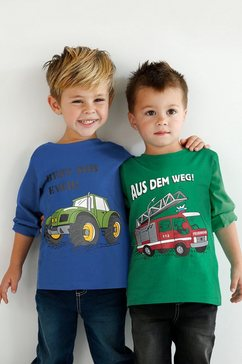 kidsworld shirt met lange mouwen (set, 2-delig) blauw